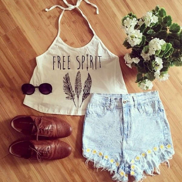 shoes shorts flowers tank top crop tops sunglasses top