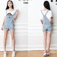 Distressed washed jean overalls · mir · online store powered by storenvy