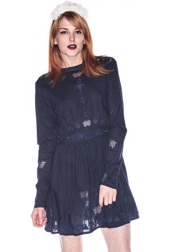 One Teaspoon Nirvana Long Sleeve Dress | Dolls Kill
