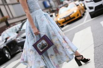dress tumblr blue dress ball gown dress light blue baby blue bag purple sandals sandal heels high heel sandals black sandals