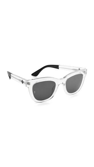 clear sunglasses black grey