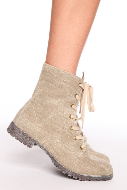 shoes boots ankle boots military style canvas lace up