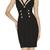 Black Sexy Dress - Bqueen Metal Buckle  Halter Bandage | UsTrendy