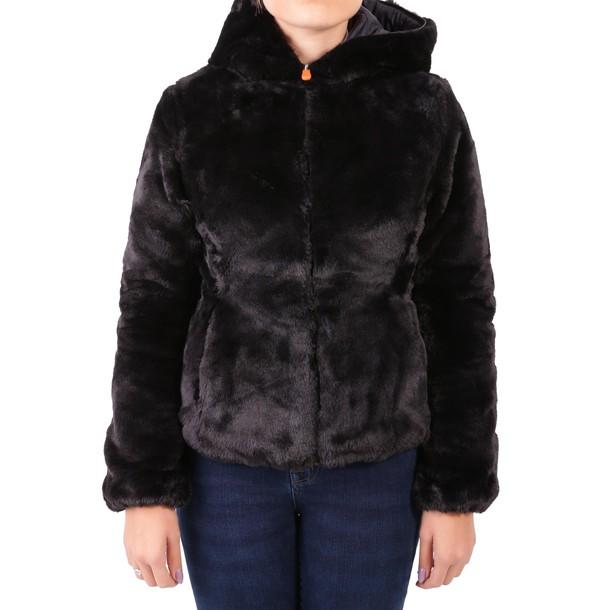 Save The Duck jacket faux fur jacket fur jacket fur faux fur black