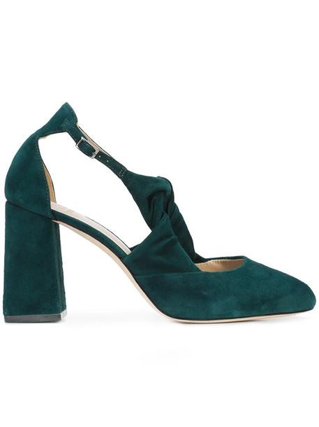 ZAC Zac Posen women pumps leather suede green shoes