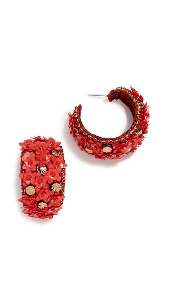 Deepa Gurnani Deepa by Deepa Gurnani Raquel Earrings in red
