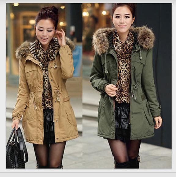 scarf jacket cream jacket winter jacket