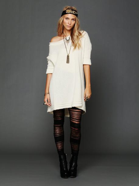 dress laine wool white