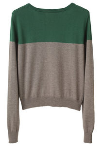 Boy by band of outsiders / color block sweater