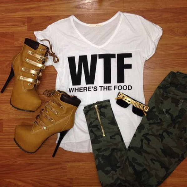 jeans shoes t-shirt wheresthefood wtf