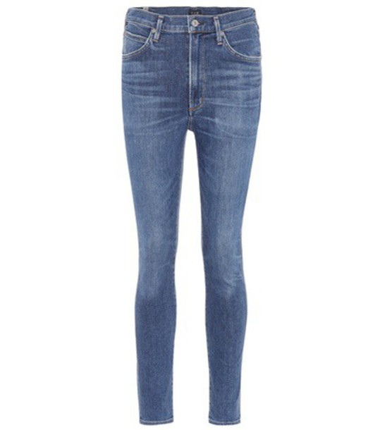 CITIZENS OF HUMANITY jeans skinny jeans high blue