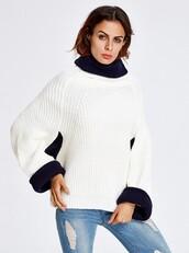 sweater,sweater weather,oversized sweater,white sweater,oversized white sweater,long sleeves white dress,loose fit sweater,loose sweater,short loose sweater,thick sweater,high neck sweater