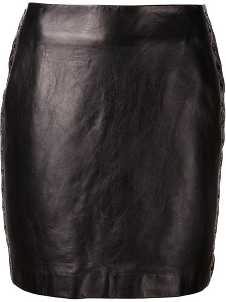 MUGLER skirt embellished skirt embellished leather black