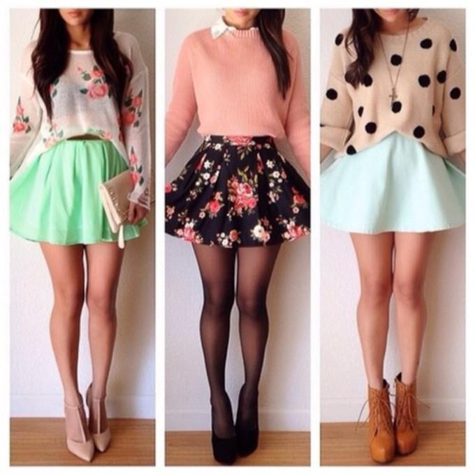 Floral Skater Skirt Outfits Skirt Floral Ponte Skater