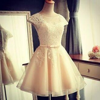dress white cute princess elegant dress elegant elegance party girl female festival new year's eve