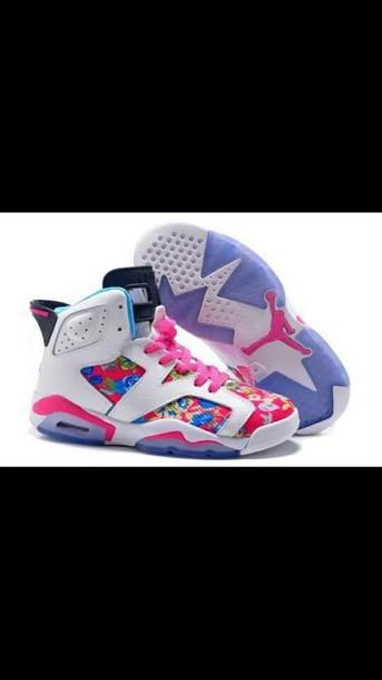 shoes flower jordans