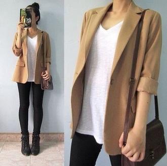 jacket brown blazer brown jacket
