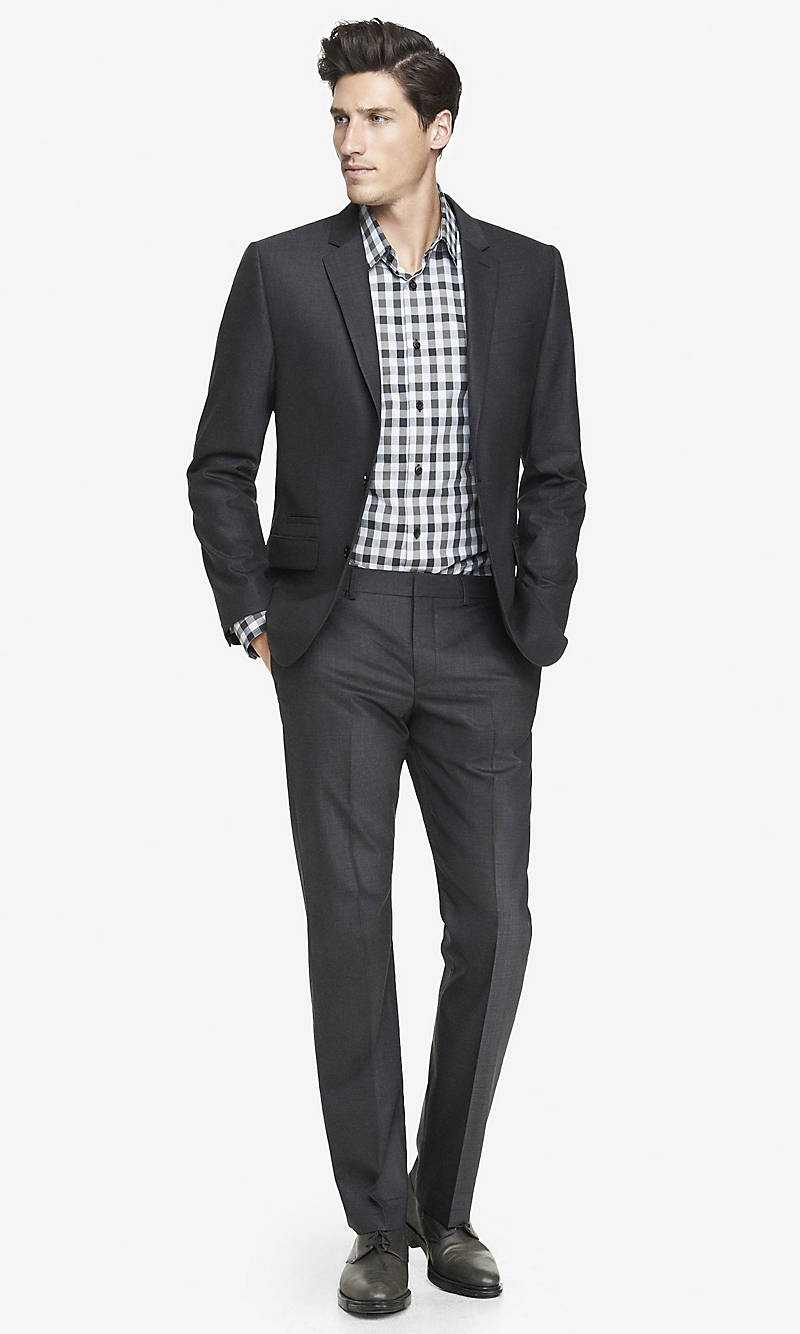 END-ON-END PHOTOGRAPHER SUIT PANT from EXPRESS