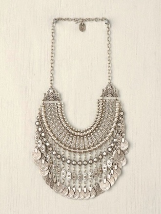 jewels necklace silver egyptian statement tumblr cute silver necklace statement necklace