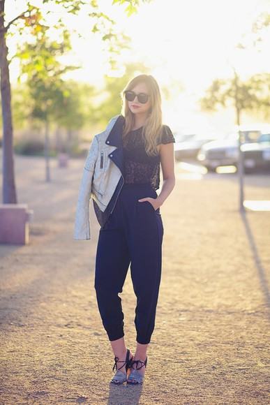 late afternoon t-shirt pants shoes sunglasses jacket jewels underwear