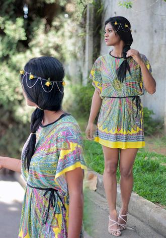 dress headband tribal pattern hair accessory