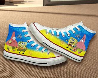 shoes converse hand painted spongebob gift ideas spongebob and patrick girly birthday