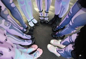 shoes leggings pastel pastel goth pastel pink pastel purple ballet flats