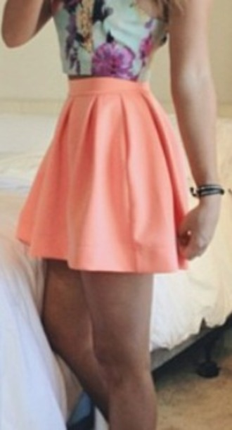 skirt orange skirt plain skirt short skirt skater skirt