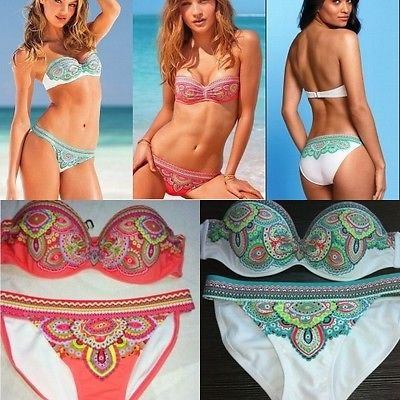 2013 new sexy women push up padded beach bikini swimsuit underwire bra swimwear