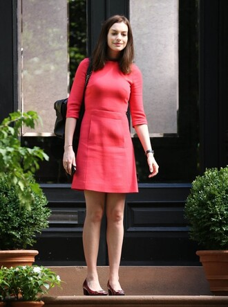 anne hathaway dress red dress