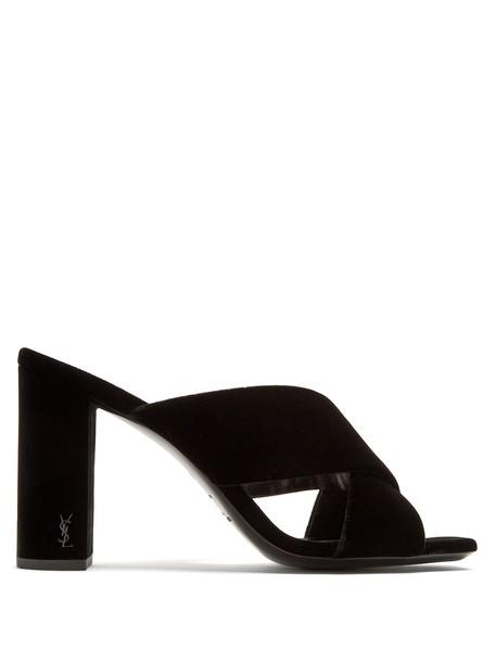 Saint Laurent mules velvet black shoes
