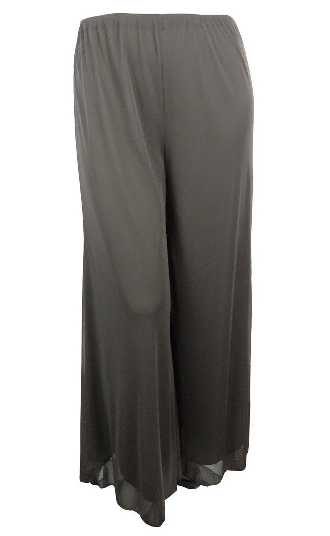 Alex evenings light weight wide leg pants (xl, granite) at amazon women's clothing store: