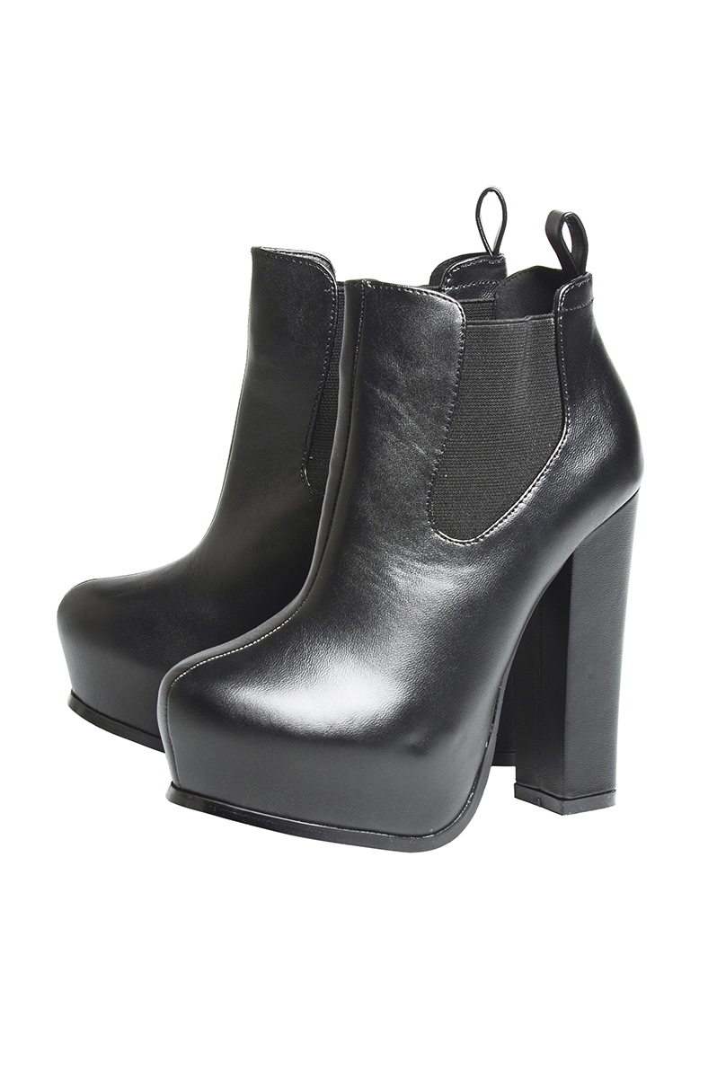 Chunky Heeled Platform Boots