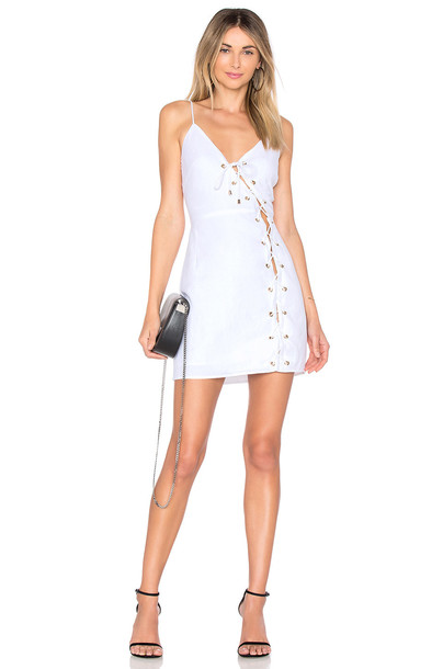 dress lace up dress lace white