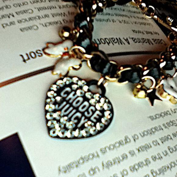 designer jewels designerinspired juicy charms black and gold black gold white charm bracelet