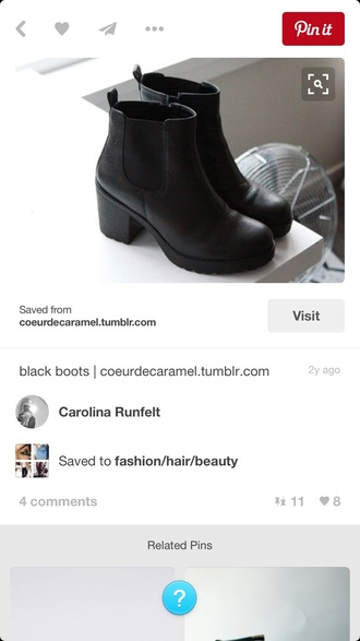shoes black booties