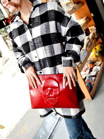 bag clutch purse shirt flannel flannel shirt