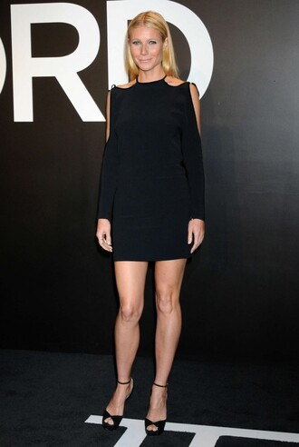 dress black short dress gwyneth paltrow