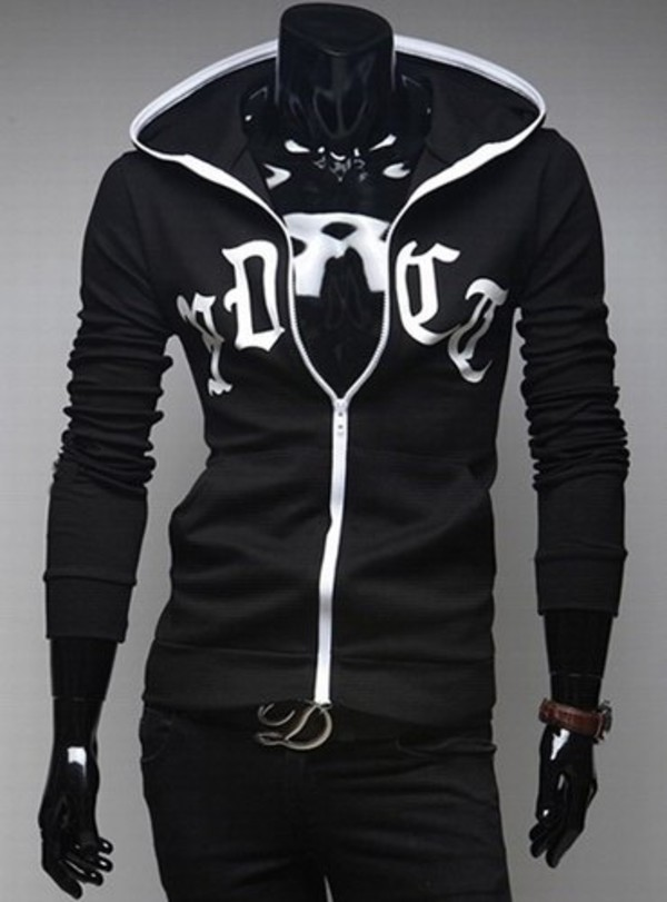 trendy zipper design cotton blend hoodie
