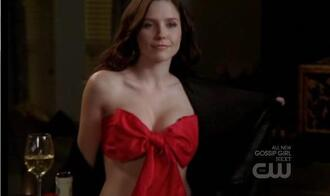 bandeau bra panties brooke one tree hill scott red underwear underwear