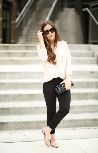 dress corilynn blogger top pants shoes bag sunglasses jewels