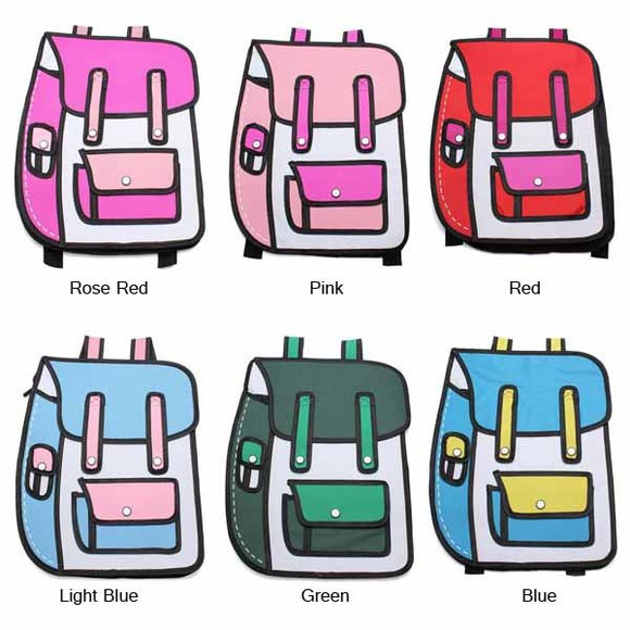 bag backpack banggood schoolbag girls/boys 3d cartoon