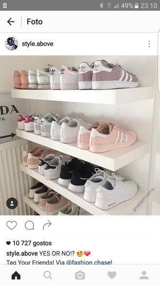 shoes grey pastel adidas superstars