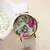 HOT Vogue Women'S Girl'S Geneva Leather Rose Flower Watch Quartz Watches B7BU | eBay