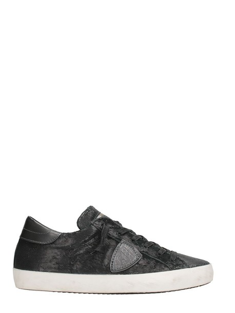 Philippe Model paris sneakers leather black black leather shoes