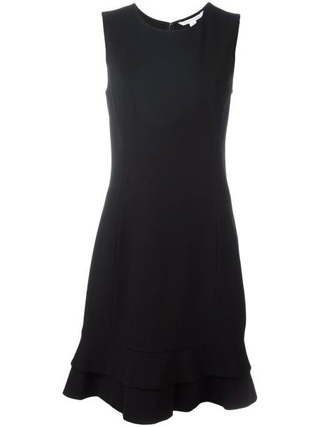 dress women spandex layered black