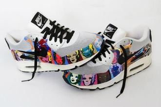 nike marilyn monroe white air max andy warhol