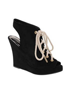 Opening ceremony stefania 3 suede lace wedge shoe boots at asos