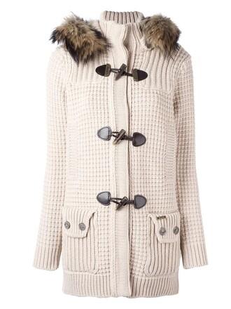 coat duffle coat women dog nude wool