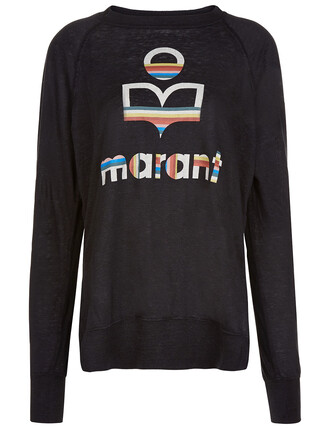 sweater rainbow black